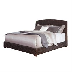 Bowery Hill Banana Leaf Bed in Dark Brown