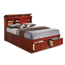 Bowery Hill Bookcase Bed in Cherry