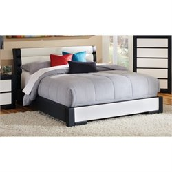 Bowery Hill Upholstered Platform Bed in Black