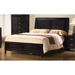 Bowery Hill Contemporary Bed in Dark Brown