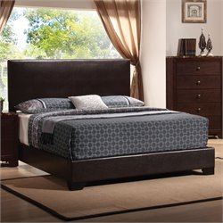 Bowery Hill Upholstered Platform Bed in Cappuccino