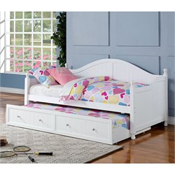 Bowery Hill Daybed with Trundle in White
