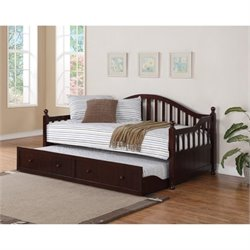 Bowery Hill Daybed with Trundle in Cappuccino