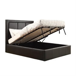 Bowery Hill Upholstered Storage Bed in Black