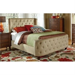 Bowery Hill Upholstered California King Bed in Beige