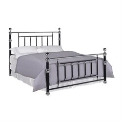 Bowery Hill Poster Bed in Black and Chrome