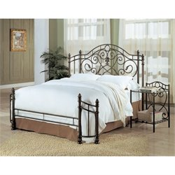 Bowery Hill Iron King Bed in Antique Green