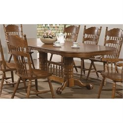 Bowery Hill Oval Dining Table in Medium Oak