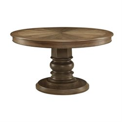 Bowery Hill Round Dining Table in Ash Brown