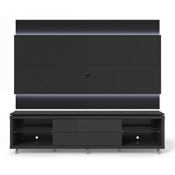 MER-995 TV Stand and LED Panel Set in Black
