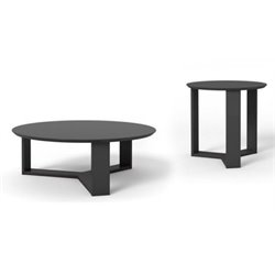 MER-995 2 Piece Round Coffee Table Set