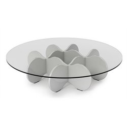 MER-995 Round Glass Top Coffee Table