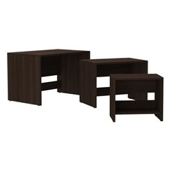 Bowery Hill 3 Piece Nesting Table Set in Tobacco