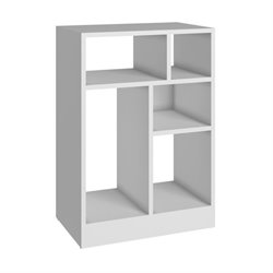 Bowery Hill 5 Shelf Bookcase in White