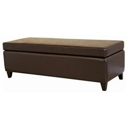MER-992 Leather Storage Bench Ottoman