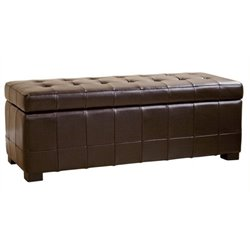 MER-992 Leather Storage Bench Ottoman 1