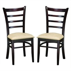 Bowery Hill Dining Chair in Dark Brown (Set of 2)