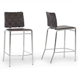 MER-992 Leather Bar Stool in Brown