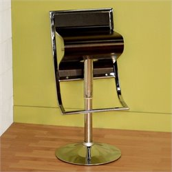 Bowery Hill Adjustable Swivel Bar Stool in Brown