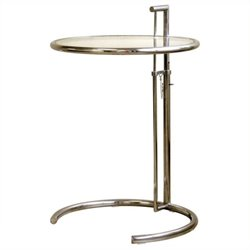 MER-992 Round Glass Top End Table
