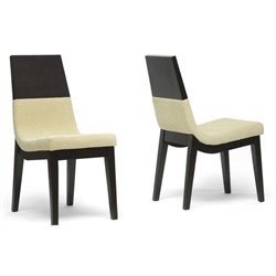 Bowery Hill Dining Chair in Beige (Set of 2)