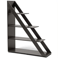Bowery Hill 4 Shelf Bookcase in Dark Brown