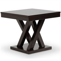 Bowery Hill Square End Table in Cappuccino