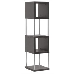 Bowery Hill 4 Shelf Bookcase in Espresso