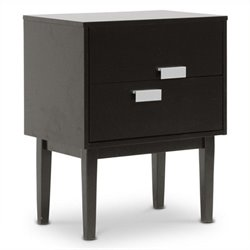 Bowery Hill End Table in Dark Brown