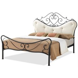 MER-992 Metal Platform Bed in Antique Bronze