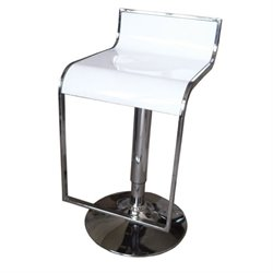 Bowery Hill Adjustable Bar Stool in White (Set of 2)