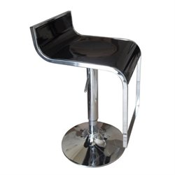 Bowery Hill Adjustable Bar Stool in Black (Set of 2)