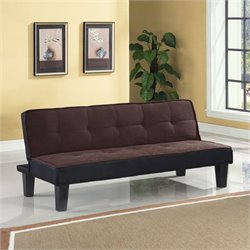 Bowery Hill Convertible Sofa in Chocolate