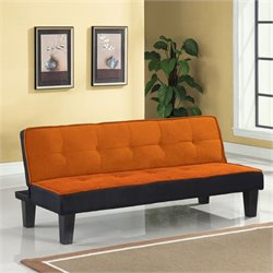 Bowery Hill Convertible Sofa in Orange
