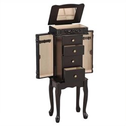 Bowery Hill Jewelry Armoire in Espresso