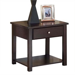 Bowery Hill Square End Table in Espresso