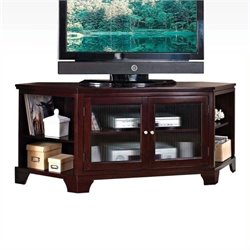 Bowery Hill Corner TV Stand in Espresso