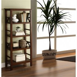 Bowery Hill 4 Shelf Bookcase in Antique Tobacco