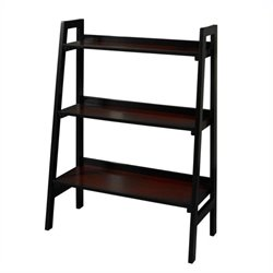 Bowery Hill 3 Shelf Bookcase in Black Cherry