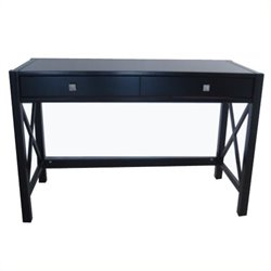 Bowery Hill Writing Desk in Distressed Antique Black