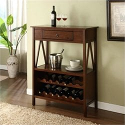 Bowery Hill Wine Cabinet in Antique Tobacco