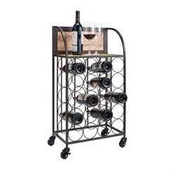 Bowery Hill Wine Rack in Black