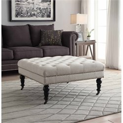 Bowery Hill Square Ottoman in Natural