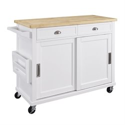 Bowery Hill Kitchen Island in White