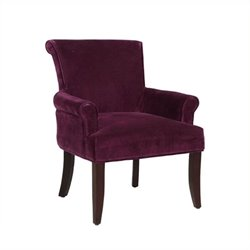 Bowery Hill Microfiber Lounge Chair in Purple