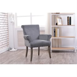 Bowery Hill Accent Chair in Charcoal