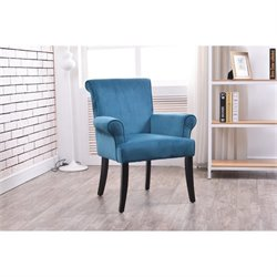 Bowery Hill Accent Chair in Dark Blue