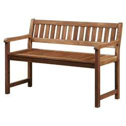 Bowery Hill Patio Bench in Teak