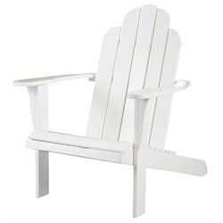 Bowery Hill Adirondack Chair in White