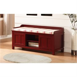 Bowery Hill Entryway Storage Bench in Red